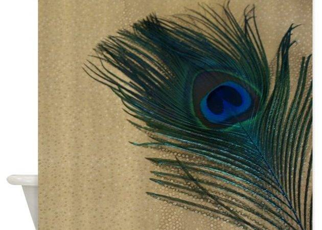 Metallic Gold Peacock Shower Curtain Christyoliver