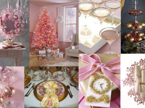 Metro Luxe Events Candice Vallone Pink Gold Christmas