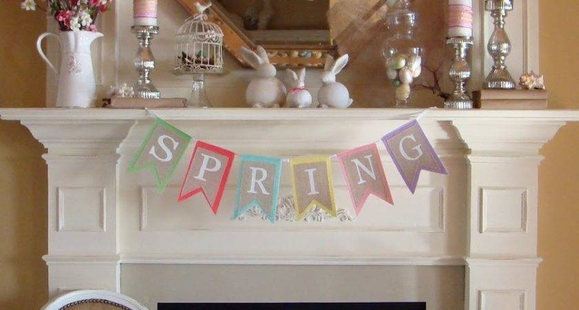 Michelle Paige Blogs Easter Mantels