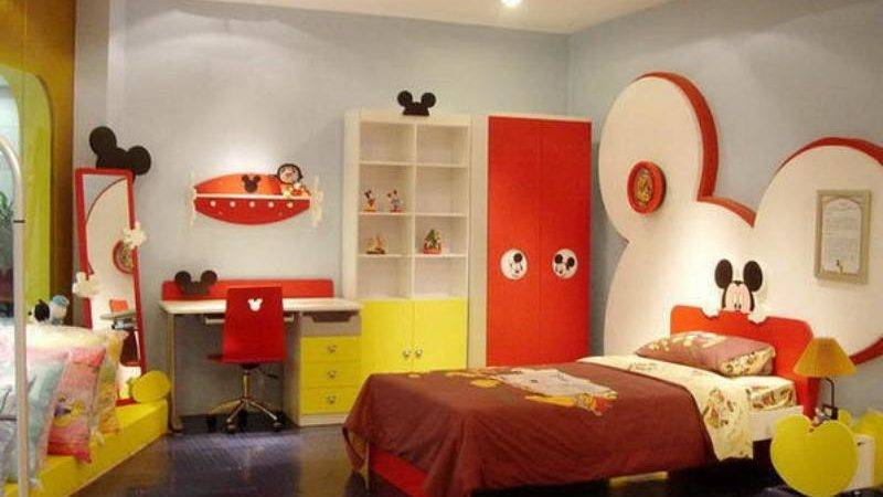 Mickey Mouse Themed Kids Room Designs Furniture
