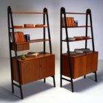 Mid Century Modern Bookcase Small Library Home