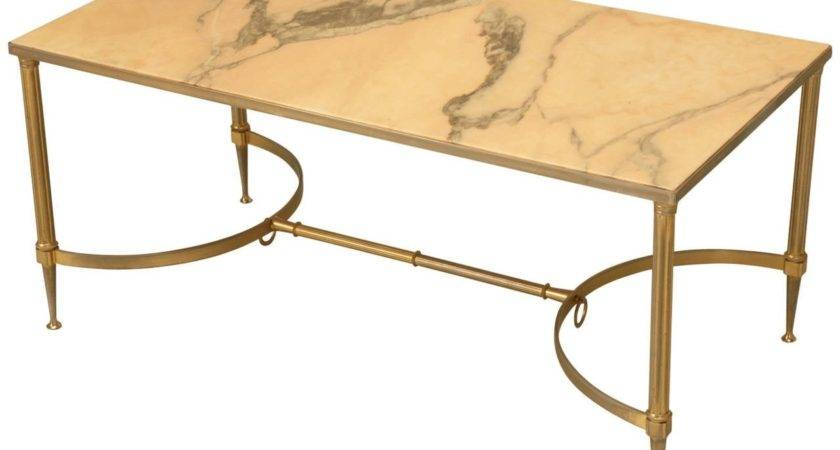 Mid Century Modern Marble Brass Coffee Table Stdibs