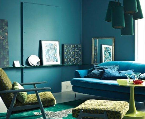Midnight Blue Living Room Decorating Ideas