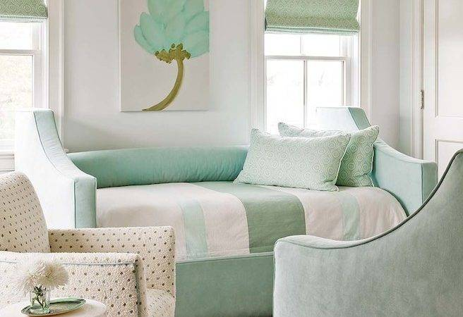 Mint Green Bedroom Cottage Eric Roseff Design