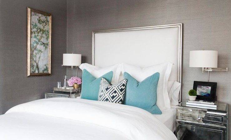 Mirrored Nightstand Contemporary Bedroom Carlyle Designs