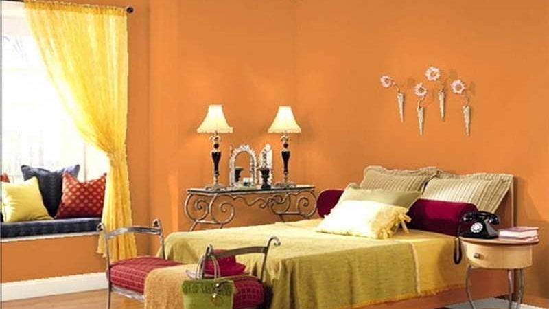 Miscellaneous Two Color Painting Ideas Rooms Orange