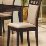 Mix Match Cappuccino Cushion Back Chair Set