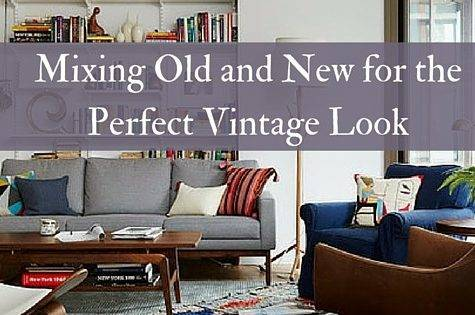 Mixing Old New Perfect Vintage Look