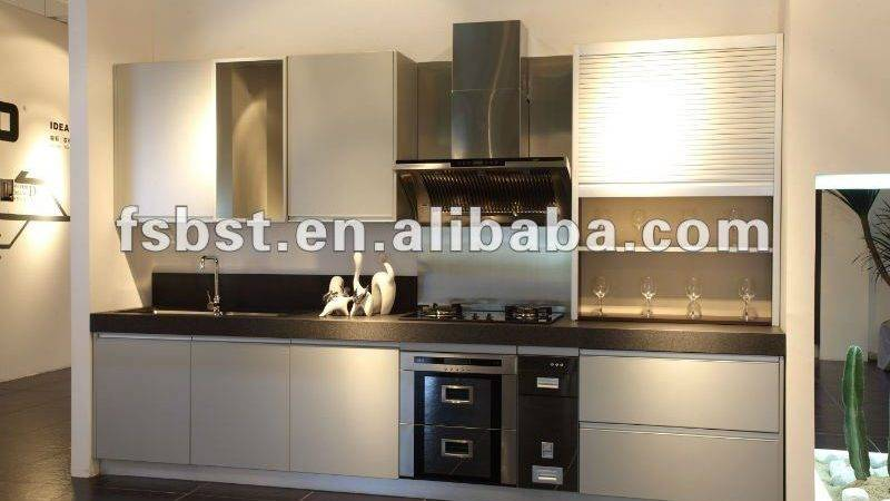 Modern Aluminium Kitchen Cabinet Design