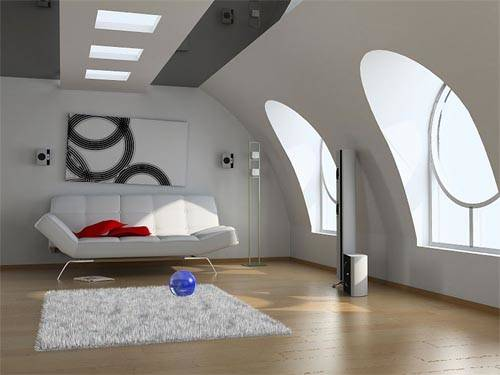 Modern Attic Design Ideas Plushemisphere