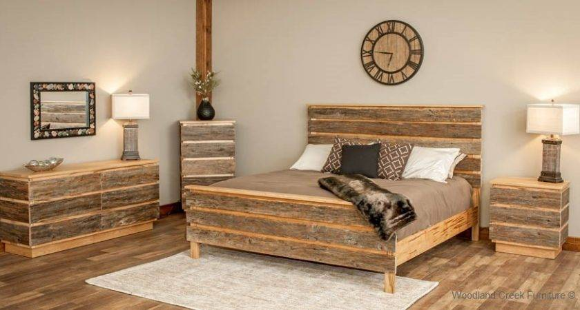 Modern Barn Wood Bed Contemporary Rustic Mountain