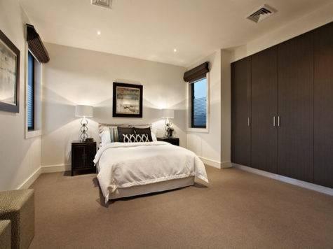 Modern Bedroom Design Idea Carpet Built Wardrobe