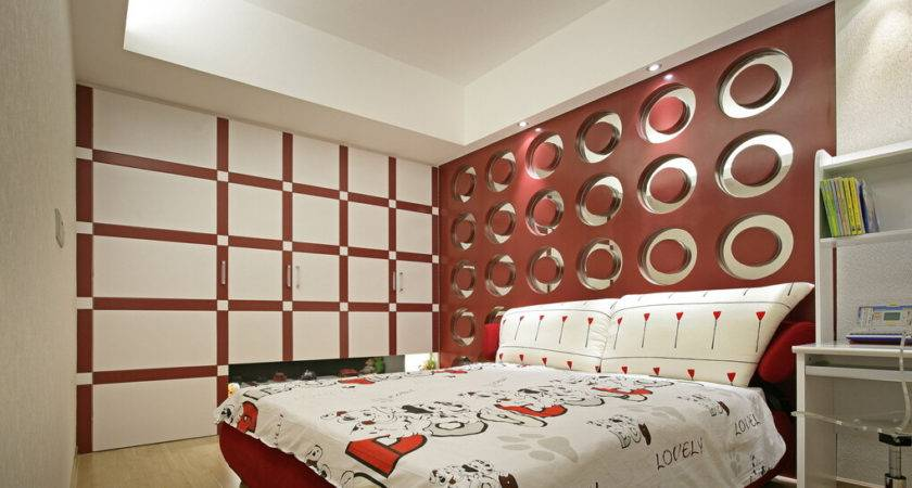 Modern Bedroom Wall Decor Idea
