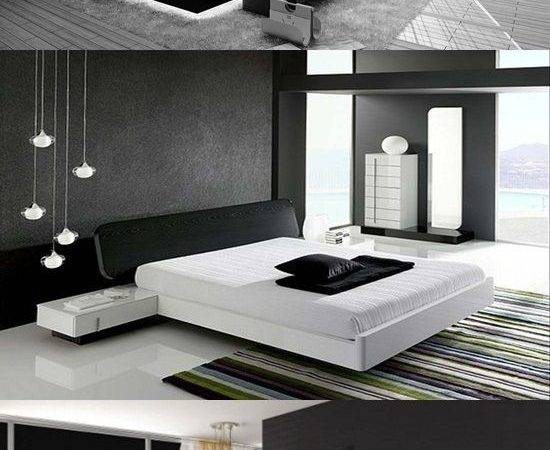 Modern Black White Bedroom Design Ideas Interior
