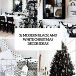 Modern Black White Christmas Cor Ideas Digsdigs