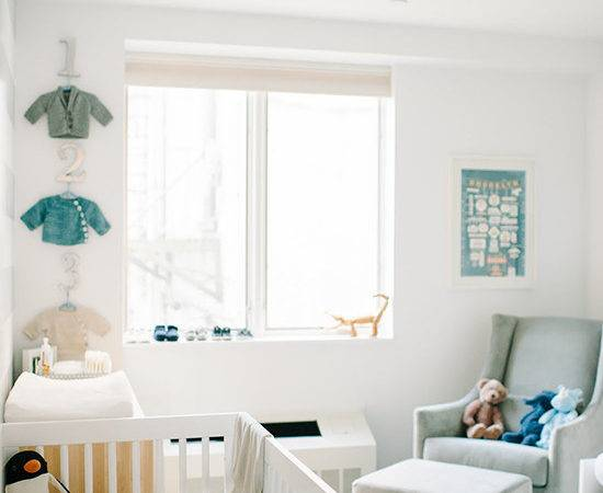 Modern Brooklyn Nursery Newborn Shoot