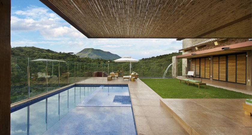 Modern Contemporary Wood House Swimming Pool Design