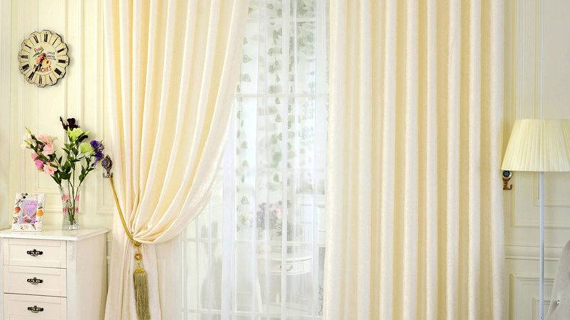 Modern Curtains Drapes Colored Beige Color