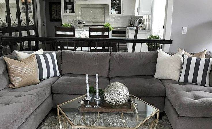 Modern Design Dark Gray Couch Living Room Ideas Grey Sofa