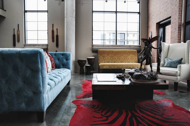 Modern Eclectic Living Room Industrial