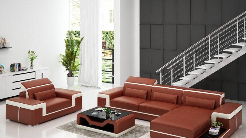 Modern European Leather Sofa Bed Luxury