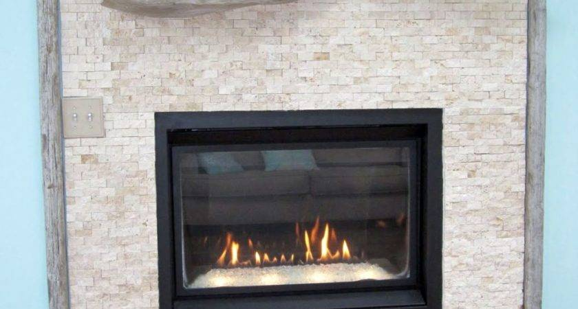 Modern Fireplace Designs Glass Blue Wall