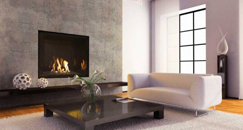 Modern Fireplace Designs Trendy Unique Option