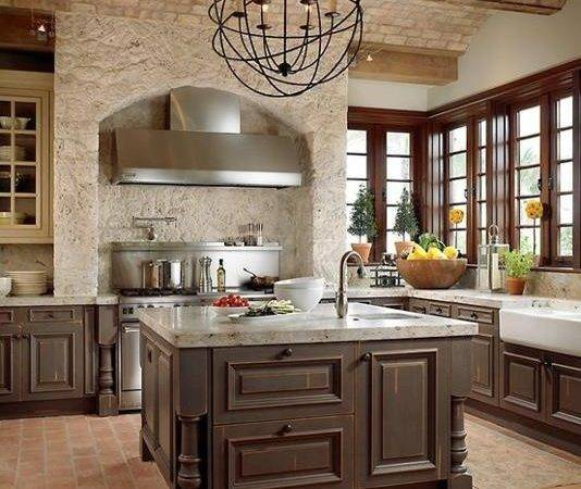 Modern Furniture Traditional Kitchen Brick Walls