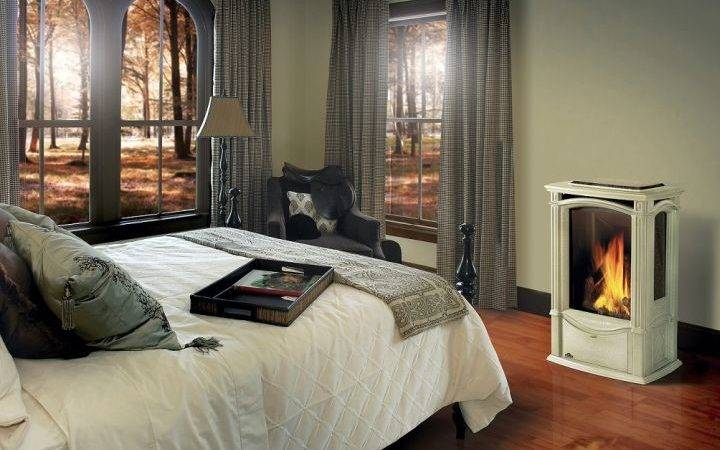 Modern Gas Fireplace Master Bedroom Design Ideas
