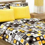 Modern Geometric Dot Print Bedding Set Yellow