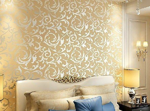 Modern Gold Foil Silver Pvc Embossed Feature