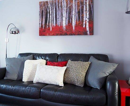 Modern Grey Red Living Room Decorating Housetohome