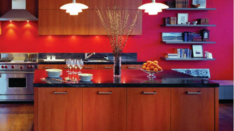 Modern Kitchen Interior Design Red Decorating
