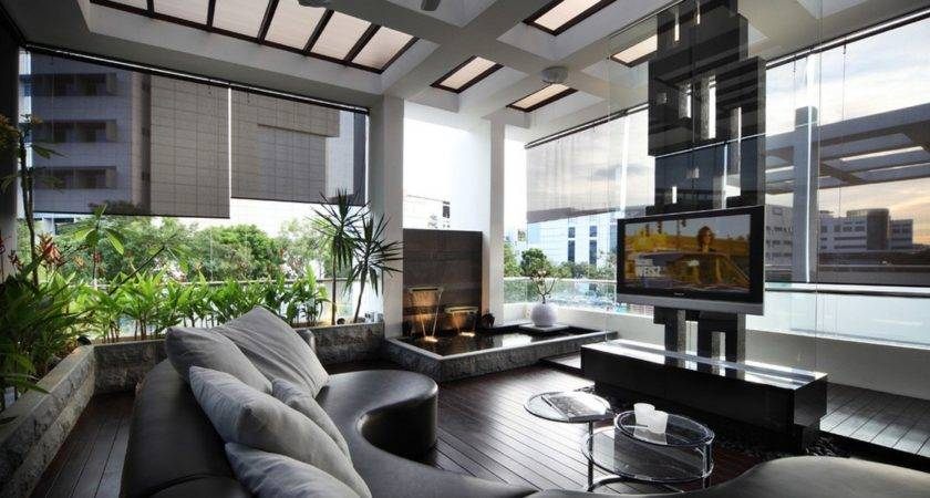Modern Leather Lounge Entertainment Bordered Living