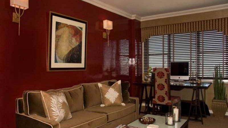 Modern Lighting Red Wall Paint Color Exquisite