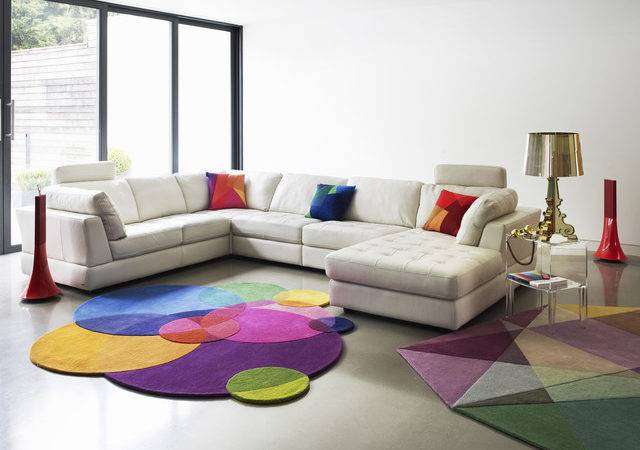 Modern Living Room Design Light Bright Colors