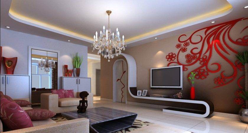 Modern Living Room Red Interior Designs
