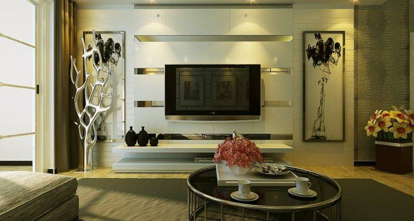 Modern Living Room Wall Decoration Effect