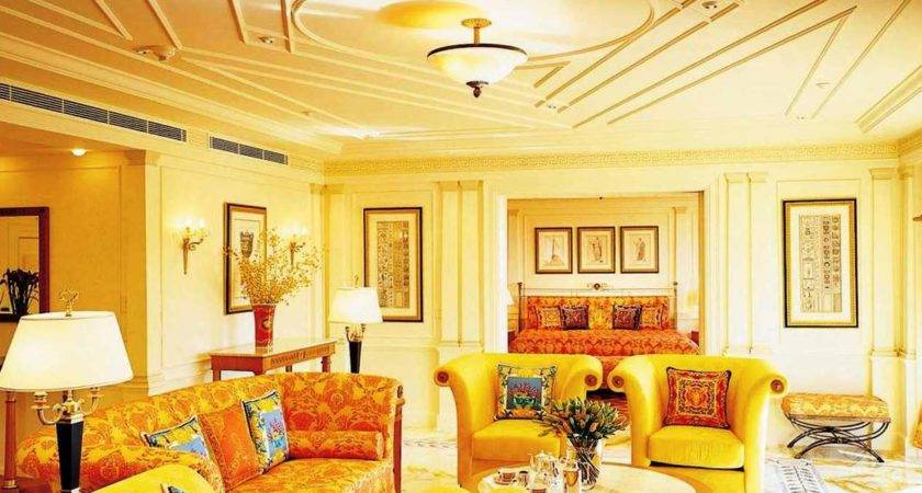 Modern Living Room Yellow Color Dands