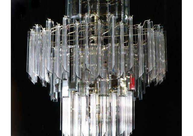 Modern Lucite Glass Chandelier Chairish