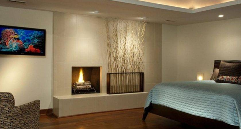 Modern Master Bedroom Small Fireplace Ucforyou