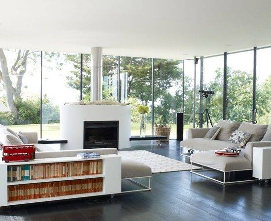 Modern Open Plan Living Room Design