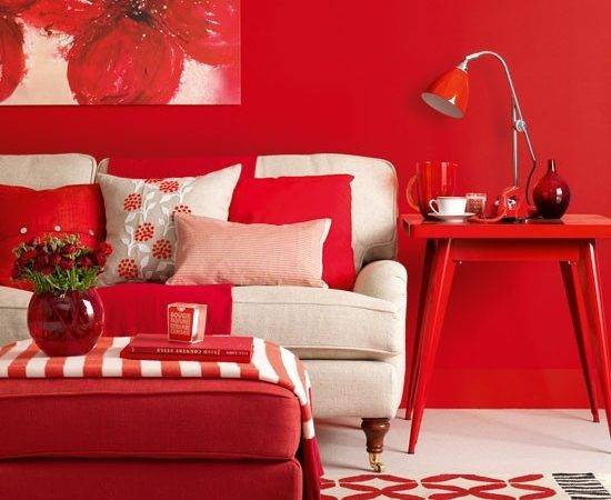 Modern Red Living Room Design Housetohome