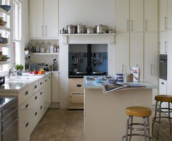 Modern Retro Kitchen Design Idea Aga