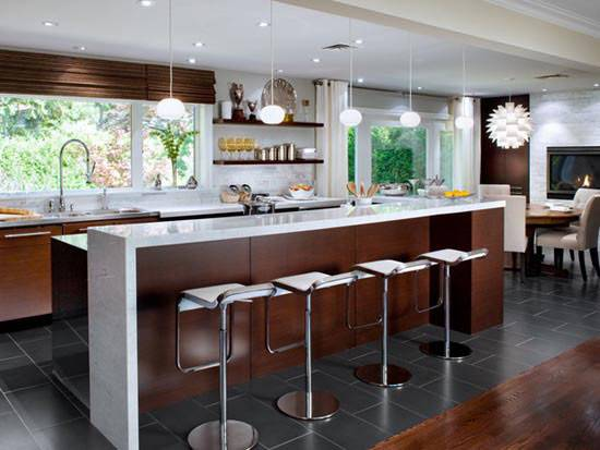 Modern Retro Kitchen Home Design Ideas