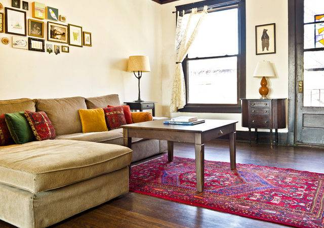 Modern Rustic Eclectic Living Room Chicago
