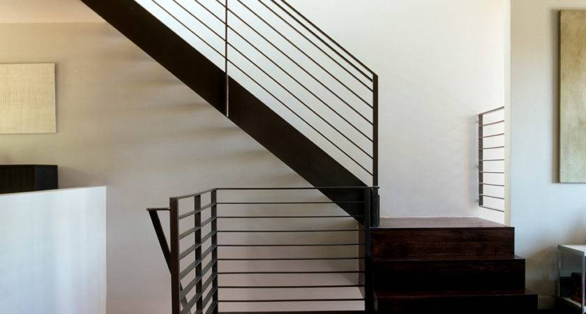 Modern Stair Railing Staircase Open Treads