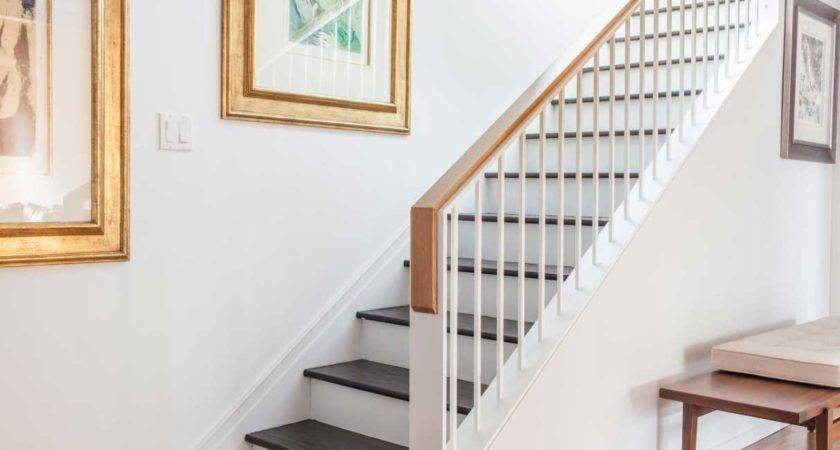 Modern Staircase Railing White Color Ideas Home