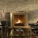 Modern Stone Fireplace Champion Creating