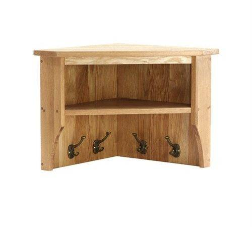 Montague Oak Small Corner Shelf